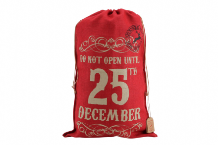Over 50% OFF Vintage Red Hessian Jute Christmas Sacks  - 3 designs